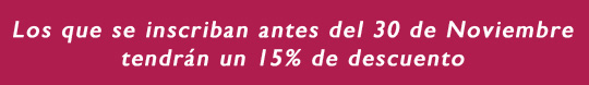 DESCUENTO 15 %