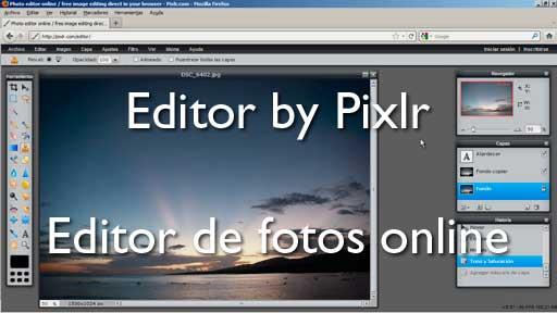 Editor by Pixlr: Editor de fotos online