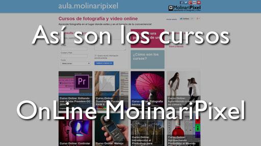 Así son los cursos online de fotografia de MolinariPixel