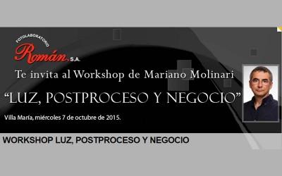 Workshop de fotografía profesional de Mariano Molinari en Córdoba