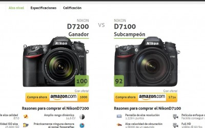 Como comparar cámaras fotográficas