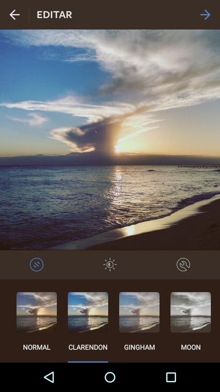 Como editar una foto en Instagram