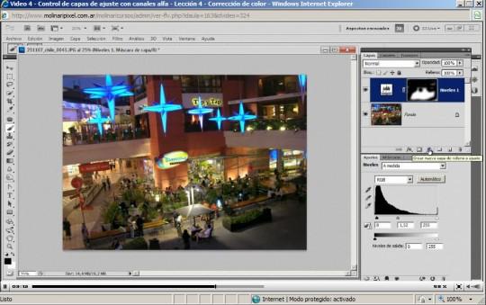 Captura de pantalla del curso de Photoshop avanzado