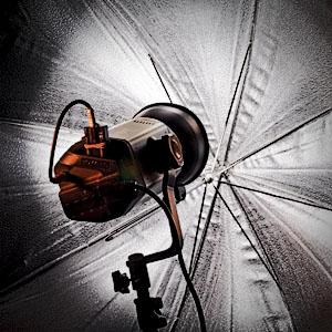 Paraguas iluminación - curso de iluminación
