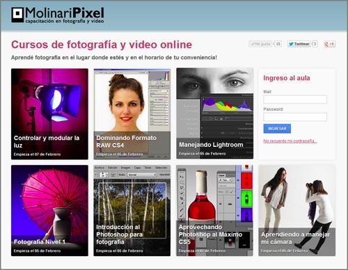 aula virtual MolinariPixel cursos de fotografia online