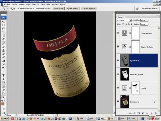 Archivo fotográfico con las capas encendidas - Cursos de fotografia digital