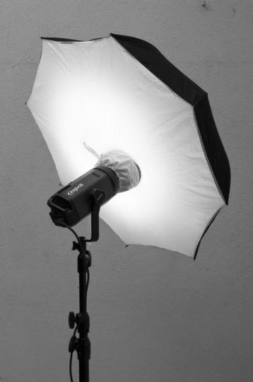 Iluminación con paraguas - Cursos de fotografía y video