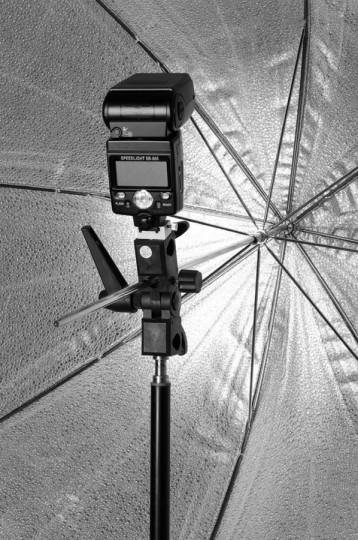 Paraguas y flashes portatiles - Cursos de fotografía y video