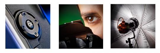 triptico cursos de fotogafia e iluminacion