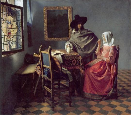 El vaso de vino. Johannes Vermeer
