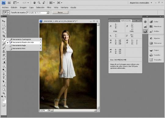 Uso del cuentagotas de Photoshop