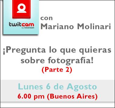 Twitcam con Mariano Molinari