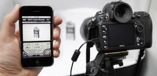 Dispositivo movil como remoto en fotografía