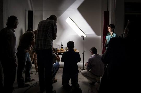 Practica de fotografia en estudio del grupo de fotoggrafía nivel 1