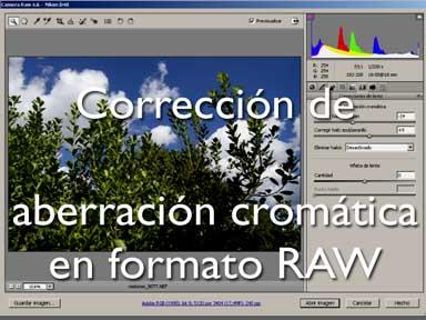 Corrección cromatica en formato RAW