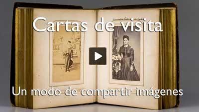 Cartas de visita, un modo de compartir imágenes.
