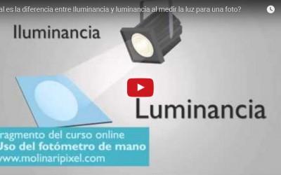 Cual es la diferencia entre Iluminancia y luminancia al medir la luz para una foto?