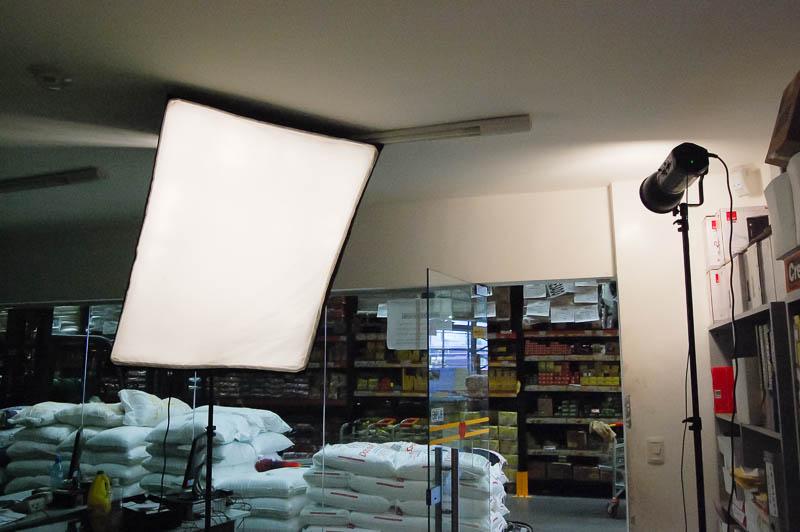 Luz de flash usada en un retrato en locación