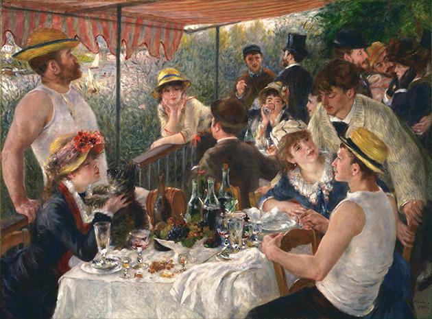 """""""El almuerzo de los remeros"""" - Renoir"""