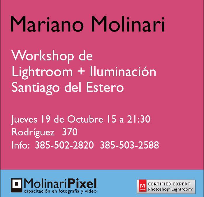 Workshop de Iluminación y Lightroom en Santiago del Estero