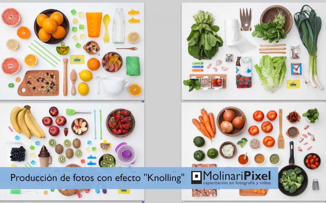 Fotografía en estudio con efecto Knolling