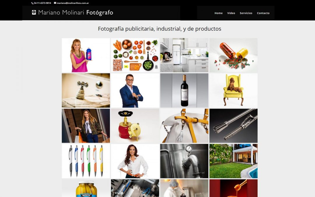 Web de fotografía comercial de Mariano Molinari