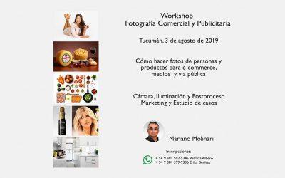 Workshop de fotografia publicitaria y comercial en Tucumán