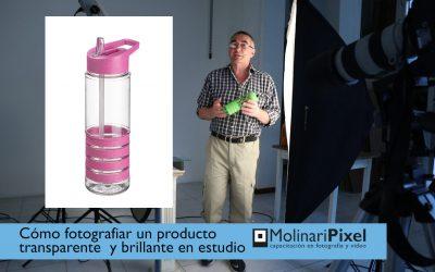 Cómo fotografiar un objeto brillante y transparente en el estudio