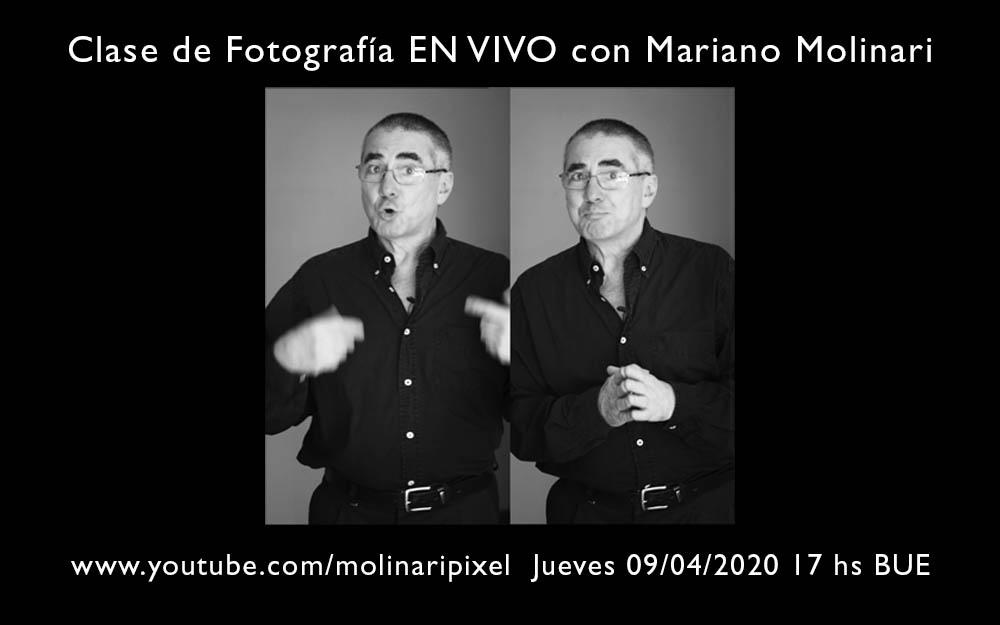 Clase en vivo de Mariano Molinari en Youtube