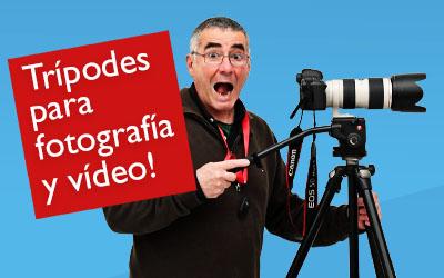 Trípodes para fotografía y vídeo