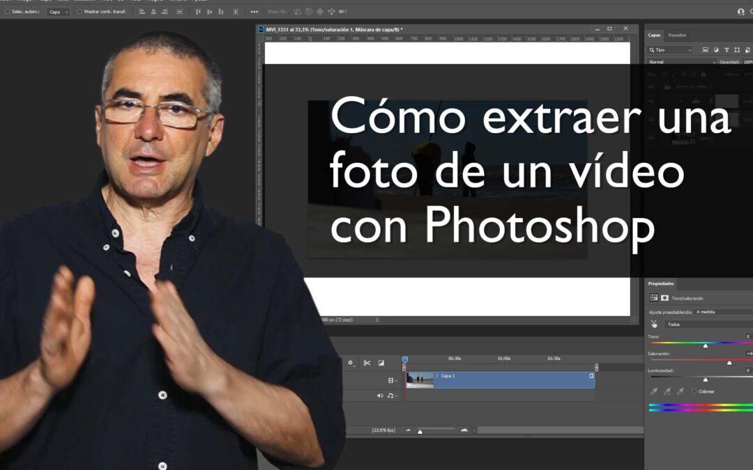 Cómo extraer una foto de un vídeo con Adobe Photoshop